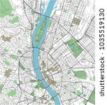 colorful budapest vector city... | Shutterstock .eps vector #1035519130