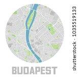minimalistic budapest city map... | Shutterstock .eps vector #1035519133