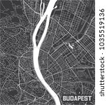 minimalistic budapest city map... | Shutterstock .eps vector #1035519136