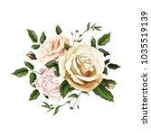 flowers. vector realistic hand... | Shutterstock .eps vector #1035519139