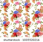 flowers floral vintage fashion... | Shutterstock .eps vector #1035520216