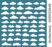 cloud icon set design | Shutterstock .eps vector #1035523648
