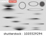 vector shadows isolated. set of ... | Shutterstock .eps vector #1035529294