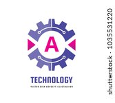 technology letter a   vector... | Shutterstock .eps vector #1035531220