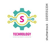 technology letter s   vector... | Shutterstock .eps vector #1035531334