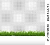 green grass and ripped paper...   Shutterstock .eps vector #1035532756