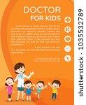 doctor and children healthcare... | Shutterstock .eps vector #1035532789