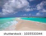 cayao de agua  los roques... | Shutterstock . vector #1035533344