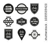 bike badges set  icons  logos ... | Shutterstock .eps vector #1035535423