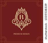 monogram design elements ... | Shutterstock .eps vector #1035538339