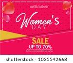 women's day celebration. | Shutterstock .eps vector #1035542668