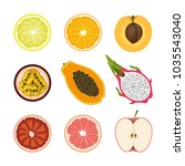 set of isolated colored slices...   Shutterstock .eps vector #1035543040