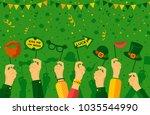 saint patrick's day carnival... | Shutterstock .eps vector #1035544990