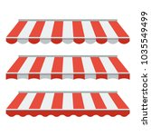 a set of striped awnings ... | Shutterstock .eps vector #1035549499