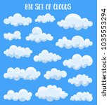 set of isolated cumulus clouds... | Shutterstock .eps vector #1035553294
