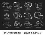 outline sketches of emmental... | Shutterstock .eps vector #1035553438