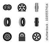car wheel icons set. simple set ... | Shutterstock .eps vector #1035557416