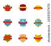 standard icons set. flat set of ... | Shutterstock .eps vector #1035557470