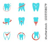 outpatient hospital icons set....   Shutterstock .eps vector #1035558079