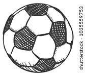 vector sketch ball for soccer.... | Shutterstock .eps vector #1035559753