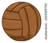 vector cartoon brown old... | Shutterstock .eps vector #1035559759