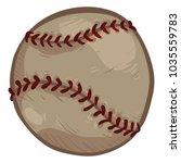 vector single cartoon old brown ... | Shutterstock .eps vector #1035559783