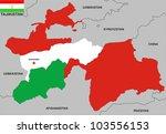 very big size tajikistan...   Shutterstock . vector #103556153
