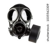 Army Gas Mask Isolated On Whit...