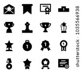 solid vector icon set   star... | Shutterstock .eps vector #1035566938