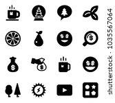 solid vector icon set   tea... | Shutterstock .eps vector #1035567064