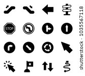 solid vector icon set  ... | Shutterstock .eps vector #1035567118