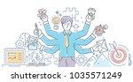 creative process   modern line... | Shutterstock .eps vector #1035571249