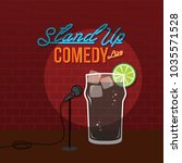 stand up comedy open mic cola... | Shutterstock .eps vector #1035571528