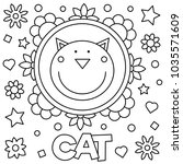 cat. coloring page. vector... | Shutterstock .eps vector #1035571609