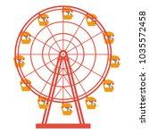 ferris wheel vector. ferris... | Shutterstock .eps vector #1035572458