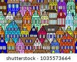 timber house facade seamless...   Shutterstock .eps vector #1035573664