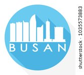 busan south korea flat icon... | Shutterstock .eps vector #1035573883