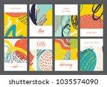 set of creative universal... | Shutterstock .eps vector #1035574090