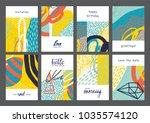 set of creative universal...   Shutterstock .eps vector #1035574120