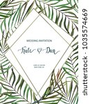 wedding card. invitation... | Shutterstock .eps vector #1035574669
