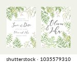 wedding greenery frame save the ... | Shutterstock .eps vector #1035579310