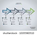 infographic design template.... | Shutterstock .eps vector #1035580510