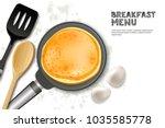 cooking pancake vector... | Shutterstock .eps vector #1035585778