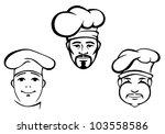 restaurant chefs set in hat.... | Shutterstock .eps vector #103558586
