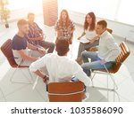 creative team is conducting the ... | Shutterstock . vector #1035586090