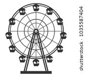 ferris wheel vector monochrome... | Shutterstock .eps vector #1035587404