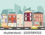 city landscape. urban landscape ...   Shutterstock .eps vector #1035589333
