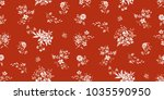 seamless floral pattern in... | Shutterstock .eps vector #1035590950