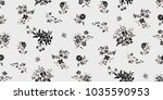 seamless floral pattern in... | Shutterstock .eps vector #1035590953