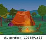 walking  hiking or sports...   Shutterstock . vector #1035591688